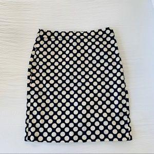J Crew The Pencil Skirt Size 4 Polka Dots